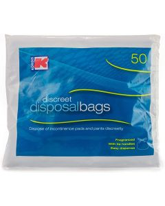 Large fragranced Adult Incontinence Disposal Bags 3 x 50 Bags = 150 Bags