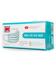Face Masks 50/box - 3 PLY,  TYPE I, HIGH QUALITY - NON MEDICAL