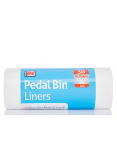 6 x 30 Strong Tie Handle Pedal Bin Liners = 180 bags