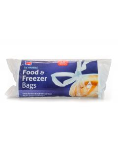 6 x 50 Strong Tie Handle Food and Freezer Bags